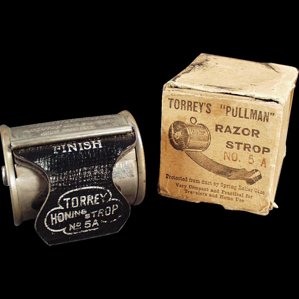 Vintage, Torrey's Retractable, Pullman Razor Strop with Original Box
