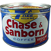 Vintage, Key Wind Coffee Tin - Chase & Sanborn