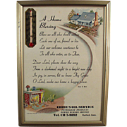 Vintage Motto with Advertising - A Home Blessing Prayer