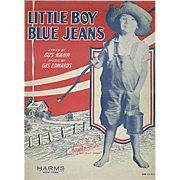 Vintage Sheet Music - Little Boy Blue Jeans - 1928