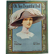 Vintage Sheet Music - Oh, You Beautiful Doll