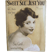 Vintage Sheet Music - Sweet Sue Just You
