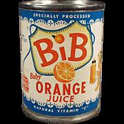 Vintage Advertising Bank - Bib Baby Orange Juice Tin
