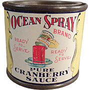Vintage, Tin, Advertising Bank - Ocean Spray Cranberry Sauce