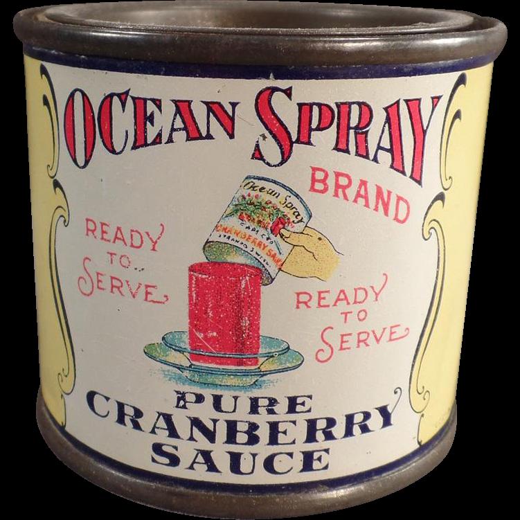 Vintage Tin Advertising Bank Ocean Spray Cranberry