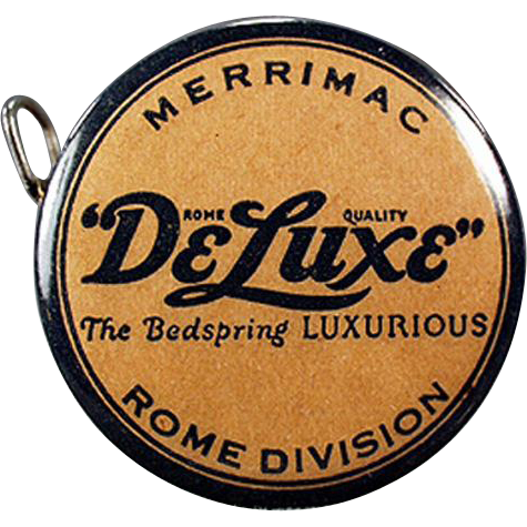 Vintage, Celluloid Tape Measure Advertising DeLuxe Bedsprings