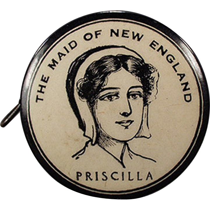 Vintage, Advertising Tape Measure - Priscilla Maid of New England, Celluloid