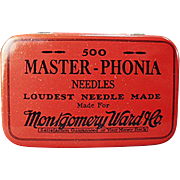 Vintage, Phonograph Needle Tin - Montgomery Ward