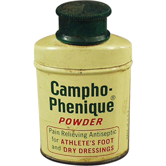 Vintage, Campho-Phenique Powder, Sample Tin
