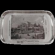 Vintage, Glass Paperweight - W.VA. & World's Fair Souvenir - Libbey Glass Co.
