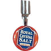Vintage, Celluloid Pencil Clip - Royal Crystal Salt Advertising