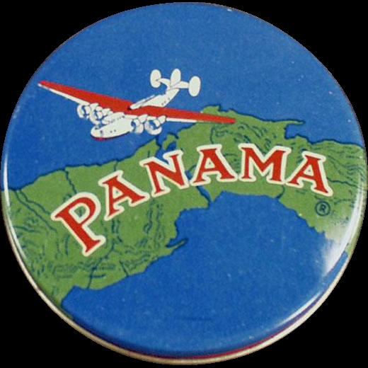 Vintage, Typewriter Ribbon Tin - Colorful Panama