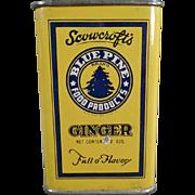 Vintage, Scowcroft's Blue Pine Spice Tin from Ogden, Utah