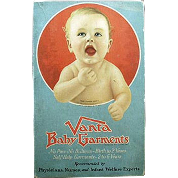 "Vintage ""Vanta Baby"" Advertising Clothes Box"