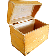 Vintage Index File Box for Kitchen or Office