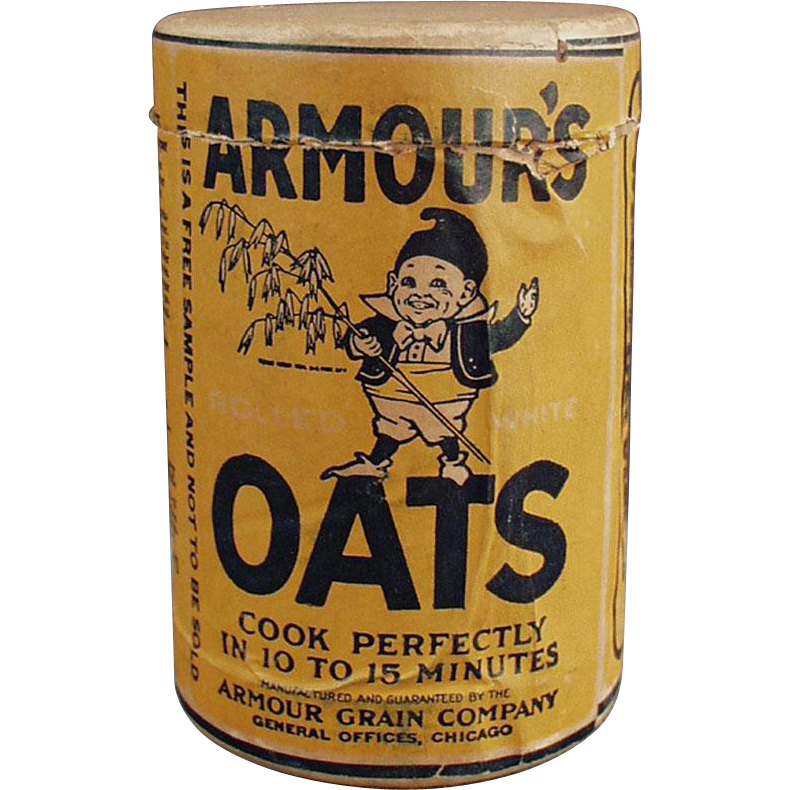 Vintage Sample - Armour's Oat Cereal Box with Elf