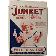 Vintage Junket, Trial Sample Advertising Box