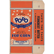 Vintage, Blue Ribbon, Pop-O Popcorn Box