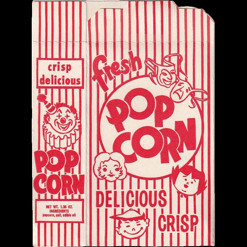 Vintage, Striped Popcorn Box - Never Used