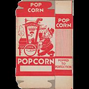 Vintage Popcorn Box with Popcorn Vendor Graphics - Never Used