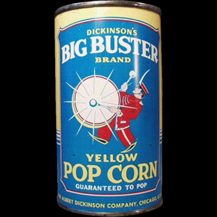Vintage, Big Buster Popcorn Tin - Full, Unopened