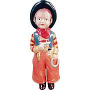 Vintage Celluloid, Cowboy Doll - Great Colors