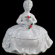 Vintage, Porcelain Dresser Box - Lady in White - Kaldun & Bogle