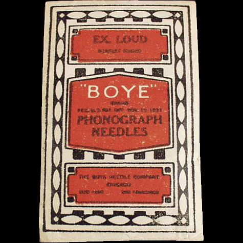 Vintage, Boye Phonograph Needles - Unopened Package
