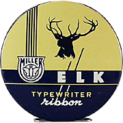 Vintage, Miller-Elk, Typewriter Ribbon Tin