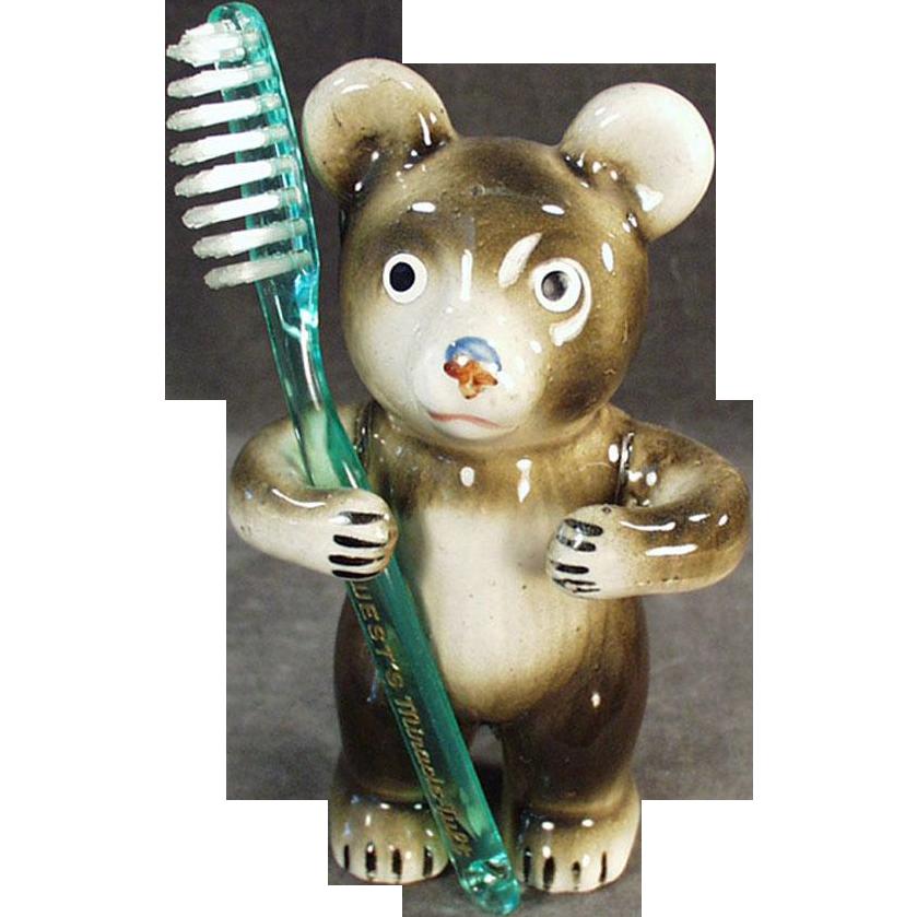 Figural, Vintage Toothbrush Holder - Little Bear