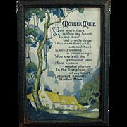 Vintage Motto Print - Mother Mine - 1921