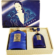 Vintage, Evening in Paris Boxed Set - Talc & Perfume Bottles