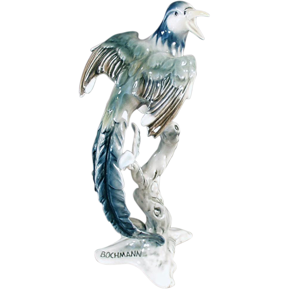 Vintage, Bird Figurine - Bochmann, West German - Beautiful Decorator Accent Piece