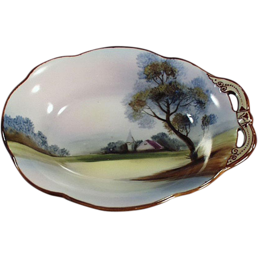Vintage, Hand Painted, Nippon Dish with Single Handle