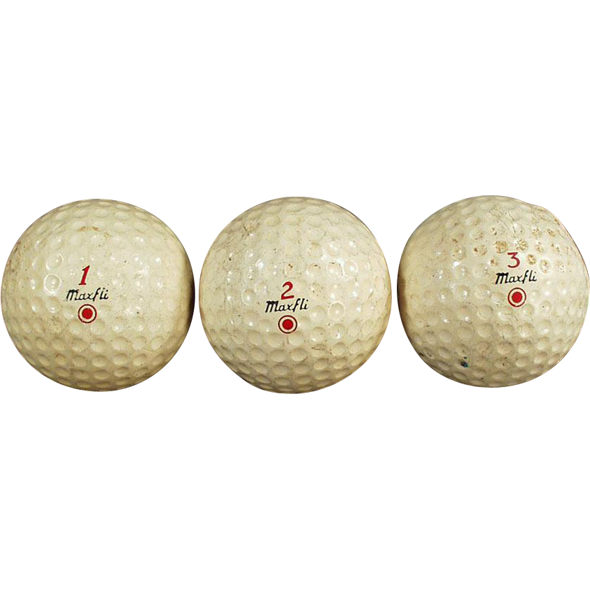 Vintage Golf Balls - Three (3) Dunlop Maxfli