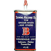 Vintage, Bega Machine Oil Advertising Tin