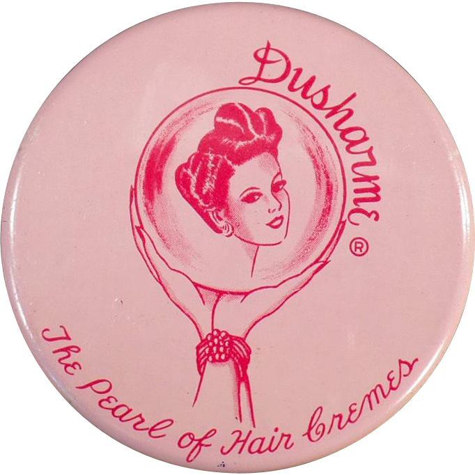 Vintage, Dusharme Hair Creme Jar - Purse Size