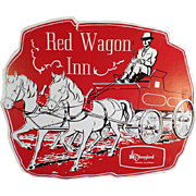 Vintage Souvenir Menu from the Red Wagon Inn of Disneyland