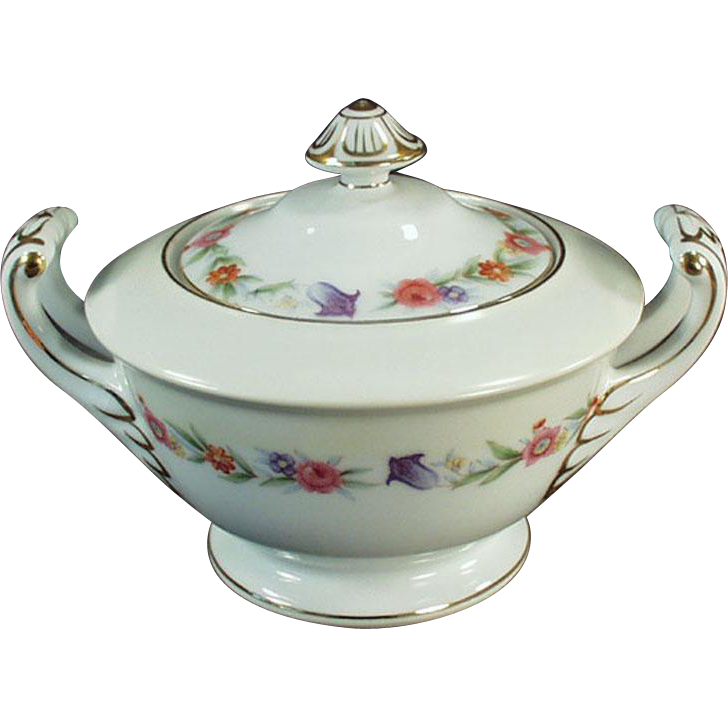 Vintage, Occupied Japan, Sango China, Covered Sugar Bowl