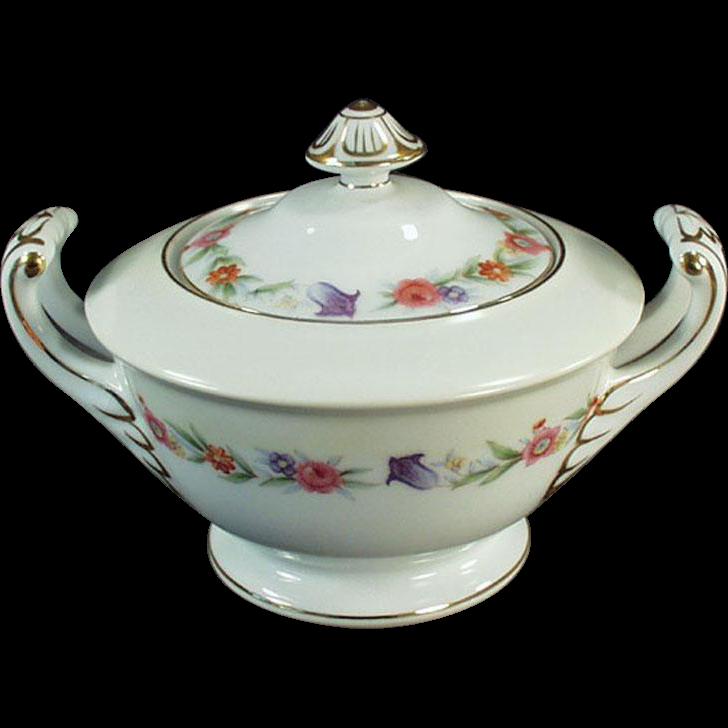 Vintage, Occupied Japan, Sango China, Covered Sugar Bowl