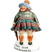 Vintage, Porcelain Whimsey - Mind Your Own Business Scotsman - S & V