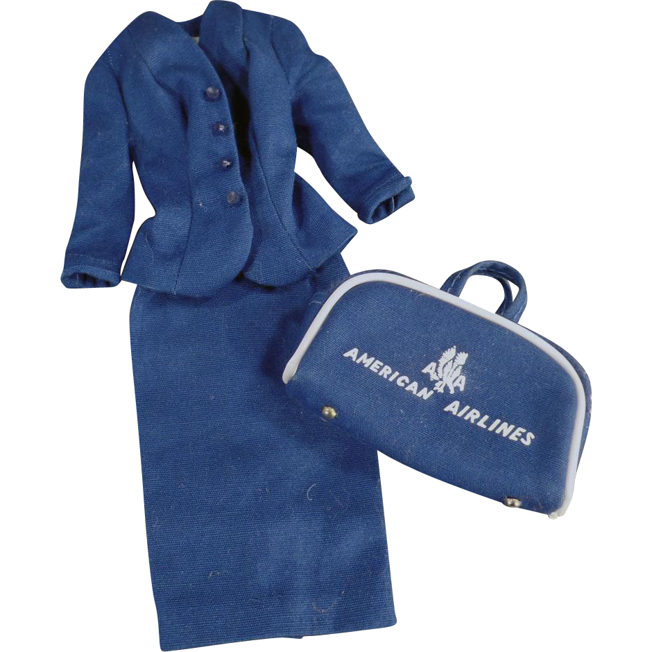 Vintage, Barbie Doll Clothes - #984 Airline Stewardess 1961-1964 - Partial Outfit