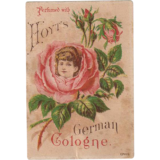 Vintage Trade Card - Hoyt Perfume - Pretty Image