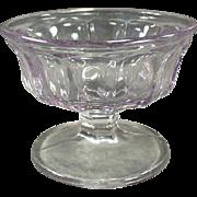 Vintage, Paneled, Sherbet Dish - Sun Purple