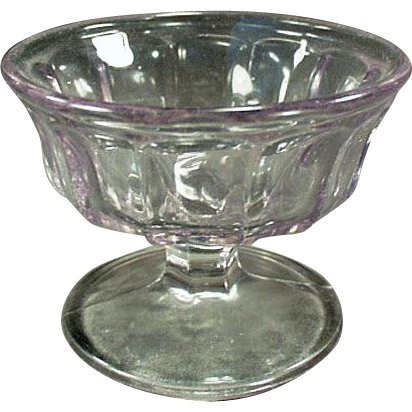 Vintage Sherbet Dish - Paneled, Sun Purple