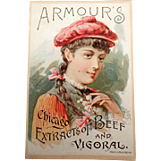 Vintage Trade Card - Armour's Vigoral - 1891