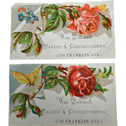 Vintage Trade Cards - Dehnert Bakery & Confectionery