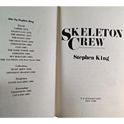 Old Book - Skeleton Crew by Stephen King - 1985 Hardbound