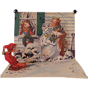 Vintage, Pop-Up Christmas Card from Borden's Elsie, Elmer & Beulah