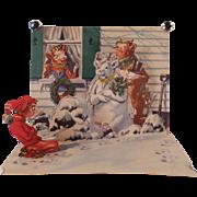 Vintage, Pop-Up Christmas Card from Borden's Elsie, Elmer & Beulah